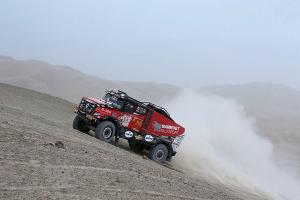 Dakar in its 4th stage tried to stop Czech truck as well.